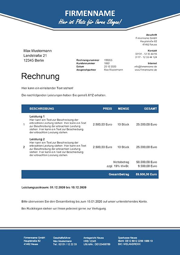 8 Hochwertig Gestaltete Rechnungsvorlagen Premium Vorlagende